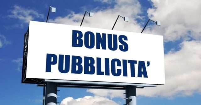 bonus pubblicità 2020